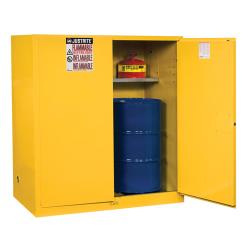 110 Gallon Manual-Close Justrite ® Sure-Grip ® EX Single Vertical Drum Cabinet
