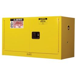 17 Gallon Manual-close Justrite ® Sure-Grip ® EX Piggyback Cabinets