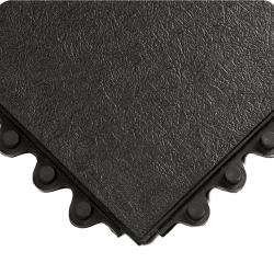 3' x 3' Black Solid 24/Seven Mat