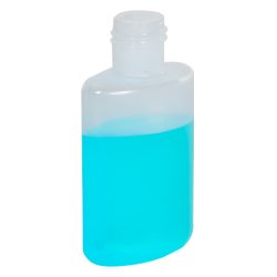 1/2 oz. LDPE Oval Bottle with 15/415 Neck (Cap Sold Separately)