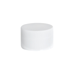 15/415 White Polypropylene Ribbed Cap with F217 Liner
