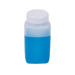 5 oz. Natural Polyethylene Wide Mouth Oblong Bottle with 38/400 Cap