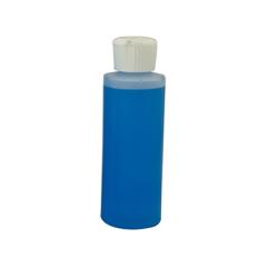 4 oz. Cylinder Bottle with 24mm White Flip-Top Cap