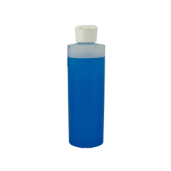 8 oz. Cylinder Bottle with 24mm White Flip-Top Cap
