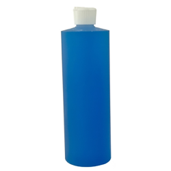 16 oz. Cylinder Bottle with 24mm White Flip-Top Cap