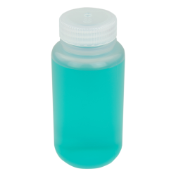 8 oz./250mL Nalgene™ Wide Mouth Polypropylene Economy Bottle with 43mm Cap