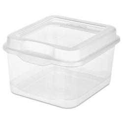 Small Clear Sterilite ® FlipTop Storage Box - 7-5/8