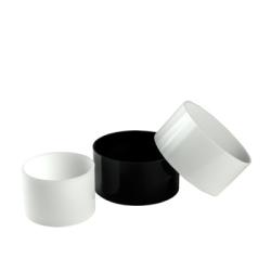 """1.5"""" OD x 1"""" ID x 1/4"""" Wall Black Cast Acrylic Tubing"""