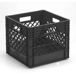 Black Vented Dairy Crate - 13.1