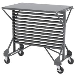 Steel Cart with Shelf Top 38-1/2