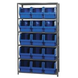 Magnum Bin Unit with 6 Shelves & 15 Red Bins 19-3/4