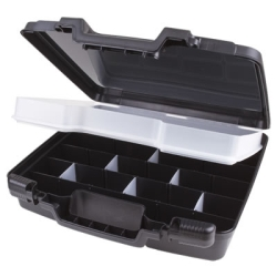 """15"""" Black Merchant Case with Lift Out Tray - 15"""" L x 14-1/2"""" W x 3-1/2"""" Hgt."""