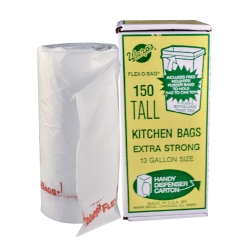 13 Gallon 1.25 mil White Trash Can Liners