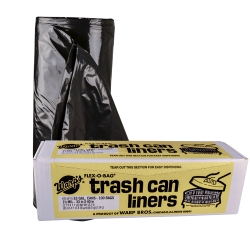 33 Gallon 1.5 mil Black Trash Can Liners