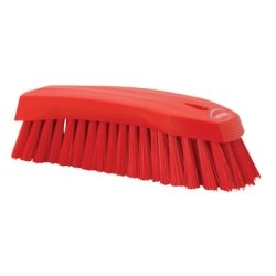 Red Scrub Brush w/Stiff Bristle