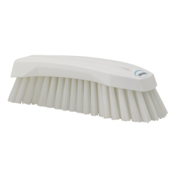 White Scrub Brush w/Stiff Bristle