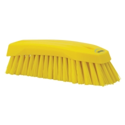 Yellow Scrub Brush w/Stiff Bristle