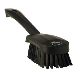 Vikan ® Black Short Handled Stiff Hand Brush