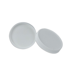 100/400 White Polypropylene Ribbed Cap with F217 Liner