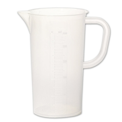 1000mL Tall Form Polypropylene Pitcher with Handle - 10mL Graduations