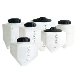 3 Gallon White Rectangle Rinse Tank w/5