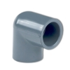 "6"" Schedule 40 Gray PVC Socket 90° Elbow"