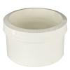 "4"" White PVC Cast Iron to Plastic Pipe Drain Fitting"