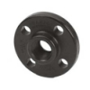 "1"" Black Polypropylene Threaded Flange"