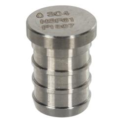 """1/2"""" Stainless Steel PEX Plug"""
