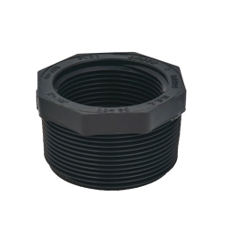 "3/8"" x 1/4"" Schedule 80 Gray PVC Threaded Reducing Bushing"