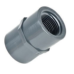 Schedule 80; Gray Female Adaptor Threaded X Socket 3/4