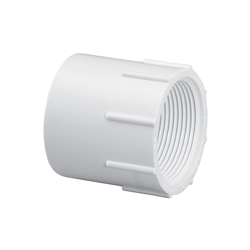 "1-1/2"" Schedule 40 White PVC Thread x Socket Female Adapter"