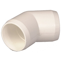 "1-1/4"" White 45° Elbow"