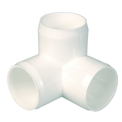 "3/4"" CTS (Copper Tube Size) White 3 Way Elbow"