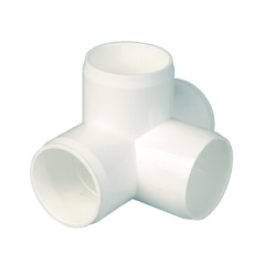 "3/4"" CTS (Copper Tube Size) White 4 Way Tee"