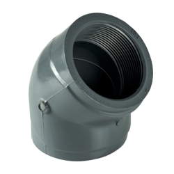 "2"" 45° CPVC Threaded Pipe Elbow"