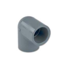 "1/4"" Light Gray Schedule 80 CPVC 90° Socket Elbow"