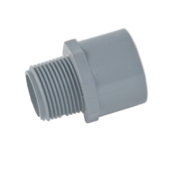 "1-1/2"" Light Gray Schedule 80 CPVC Male Adapter Threaded x Socket"