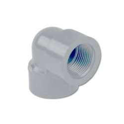 "1-1/2"" Light Gray Schedule 80 CPVC Threaded 90° Elbow"