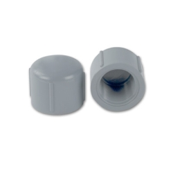 "1-1/2"" Light Gray Schedule 80 CPVC Threaded Cap"
