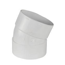 White PVC 1/16 Bend Ell
