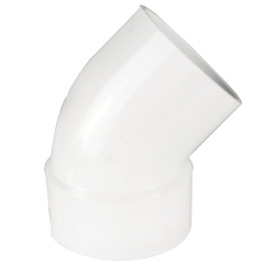 White PVC 1/8 Bend Street Ell