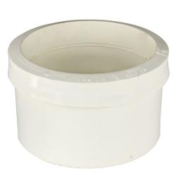 White PVC Sewer Drain Pipe Fittings Cap | U S  Plastic Corp