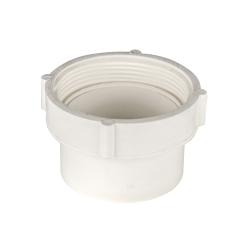 White PVC Female Pipe Thread Spigot Cleanout Adaptor