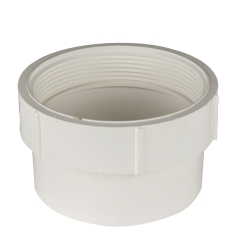 White PVC Female Pipe Thread x Hub Adaptor