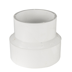 White PVC DWV To Sewer Adaptor