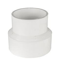 White PVC Sewer x Sch 40 Adapter
