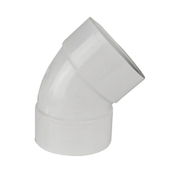 White PVC 1/8 Bend Ell
