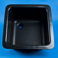 "Sink with Bowl Size 16""L x 8""W x 7""D Top Size 181/2""L x 101/2""W"