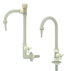 PP Deck Mount Adjustable Neck Goose Neck Faucet